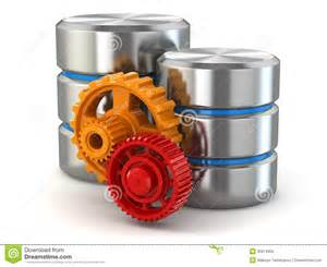 Storage Admin by Storage Administration Concept Database Symbol And Gears Royalty Free Stock Images Image