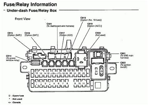 similiar 1998 honda civic ex fuse box diagram keywords