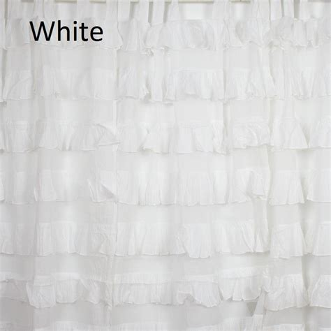 white cotton tab top curtains 2 tab top ruffle curtain cotton shabby chic decor nursery white pink ivory blue