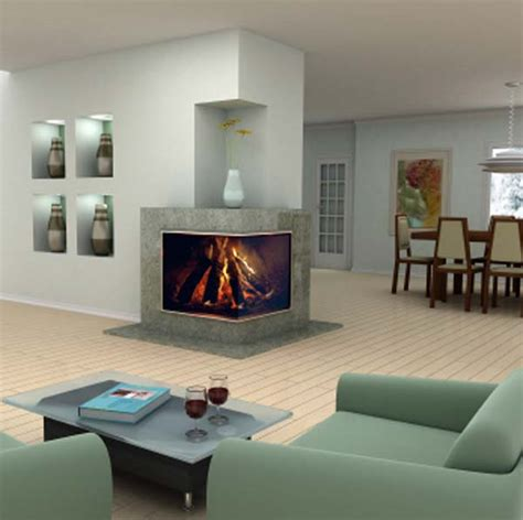 corner fireplaces modern 2 sided corner fireplace design
