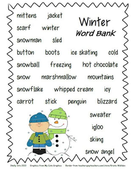 Winter Season Essay For Class 8 by Smiling And Shining In Second Grade Winter Writing Paper And Winter Word Bank