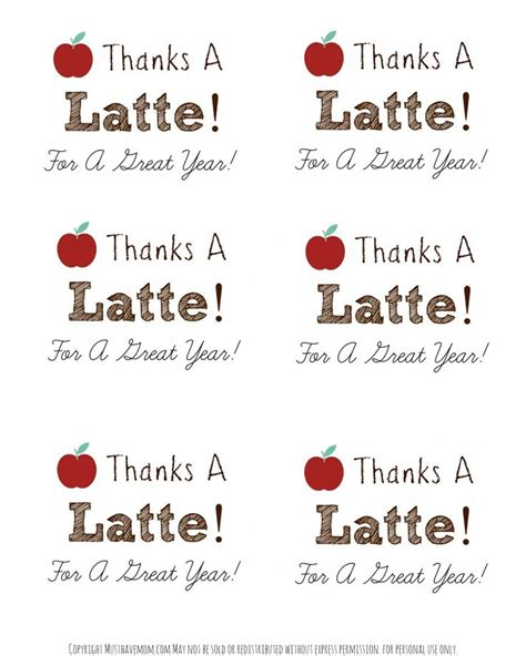 Thanks A Latte Card Template by Best 25 Thanks A Latte Ideas On Starbucks