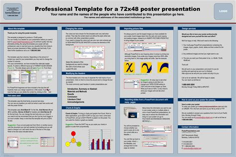 template for poster presentation free download harddance info