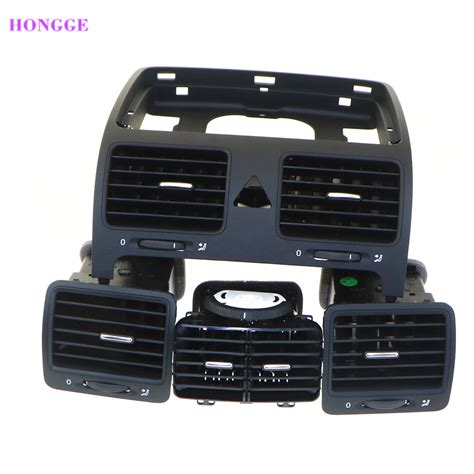 automobile air conditioning service 1987 volkswagen jetta spare parts catalogs hongge vw car air conditioning air outlet vent set for vw golf jetta mk5 mkv 1kd819728 1k0819703