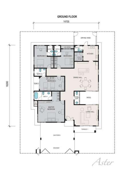 bungalow layout plan malaysia single story bungalow house plans malaysia