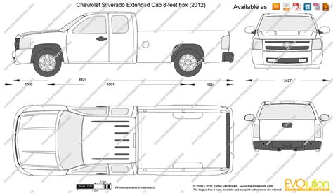 s10 bed size the blueprints com vector drawing chevrolet silverado