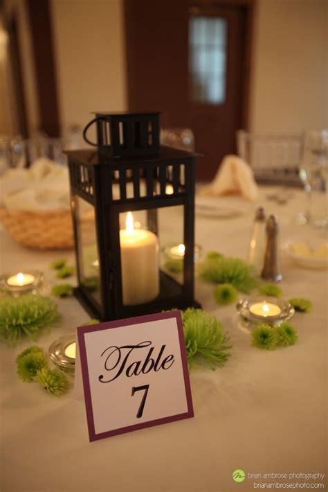 ikea borrby lantern wedding centerpiece with green spider