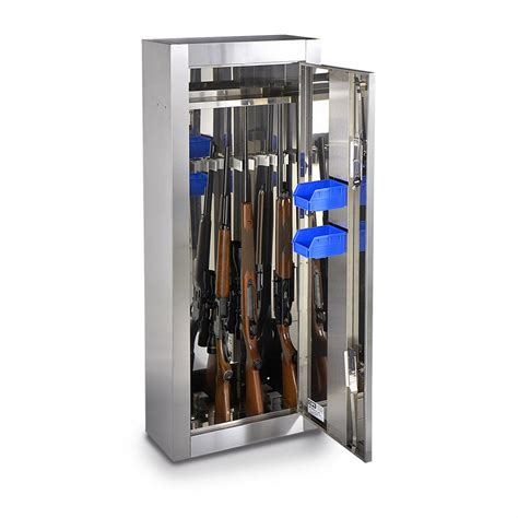 stainless steel gun cabinet 121368 home security