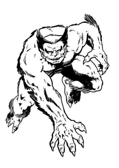 marvel beast coloring pages beast marvel drawing
