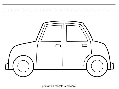 car coloring pages preschool car category preschool activities and