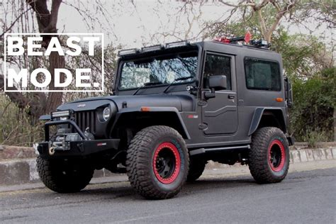 mahindra thar crde 4x4 ac modified beast mode motorscribes