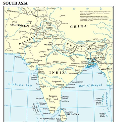 hindu kush map kanach world cultures licensed for non commercial use only south asia
