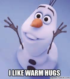 Olaf Meme - olaf hugs