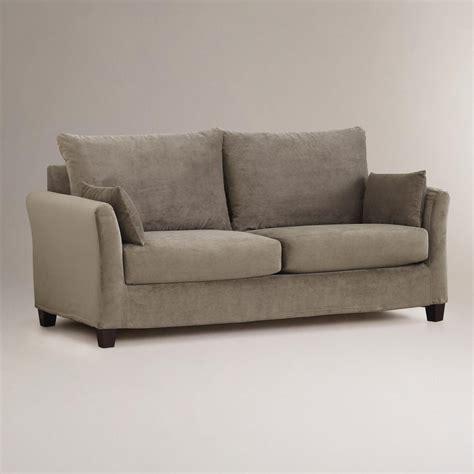 market luxe sofa slipcover luxe sofa slipcover mink brown velvet fit luxe sofa