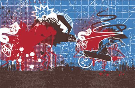 grunge graffiti urban snowboarder drip  vector