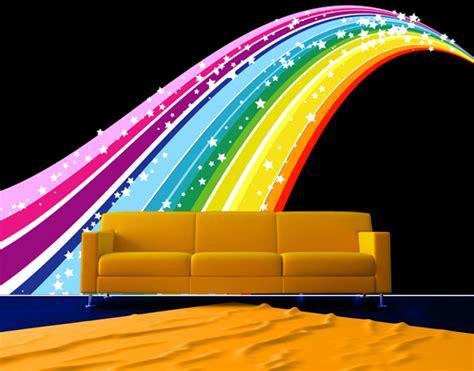 rainbow wall mural fleece wall mural rainbow wallpaper wall wall decor sky colours ebay