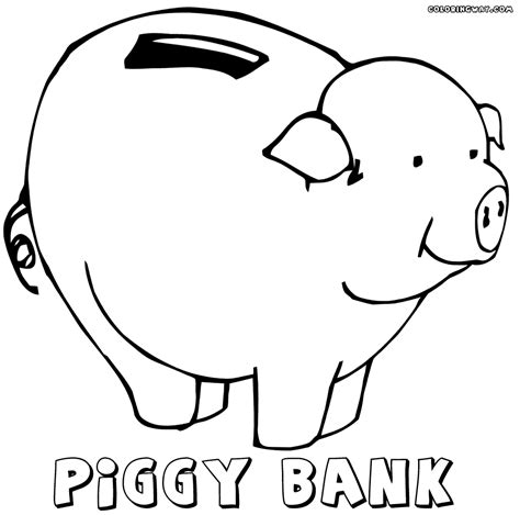 piggy bank coloring pages