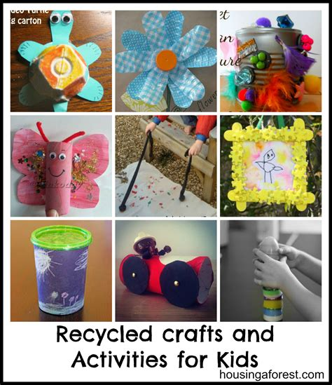 craft activities recycled crafts and activities for housing a forest