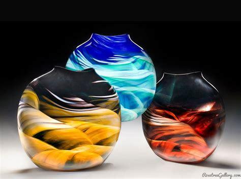 art design vase rosetree blown glass