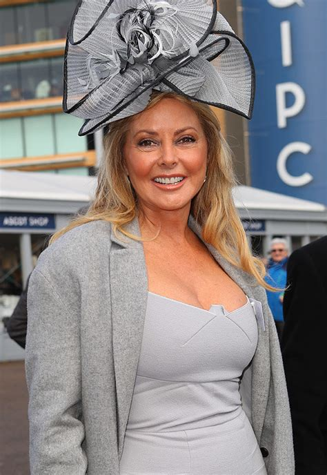 ascot carol vorderman excited   shows  colossal