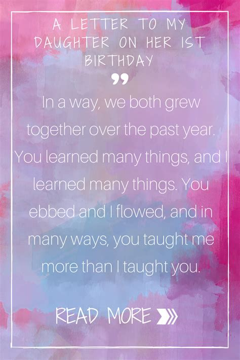 heartfelt letter   daughter    birthday daily parenting pins