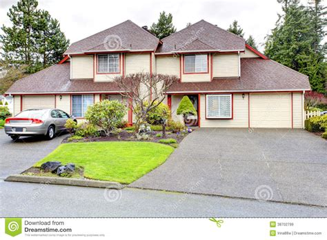 corner house curb appeal siding exterior with corner royalty free stock images