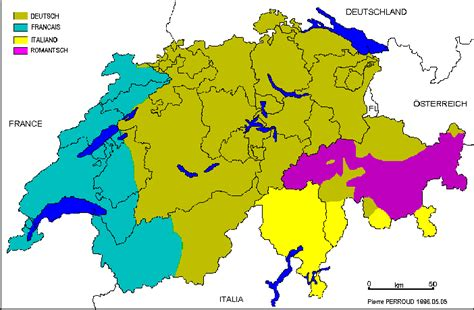 switzerland map languages switzerland map languages