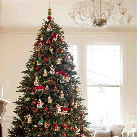 fir christmas tree ideas bh fraser fir with mistletoe and ornaments tree decorating ideas