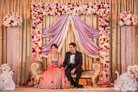 engagement decoration ideas at home an indian bride and groom at their classy reception