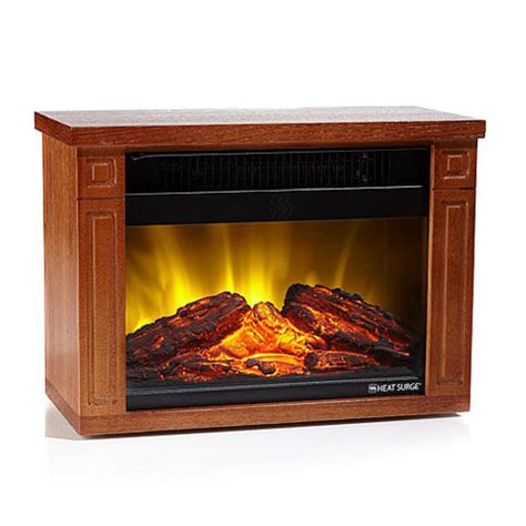 Amish Fireless Fireplace by Heat Surge Mini Glo As Seen On Tv