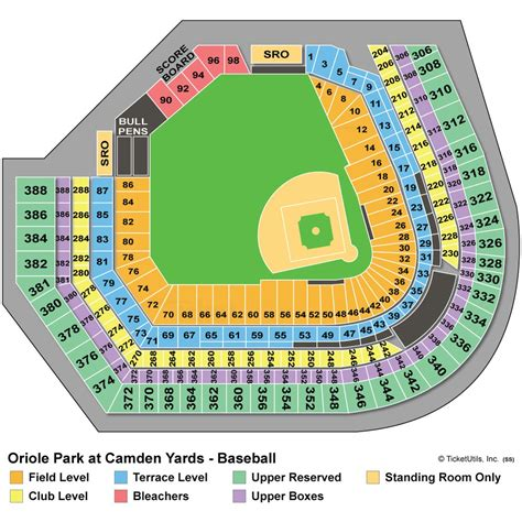 Autozone Park Seating Diagram
