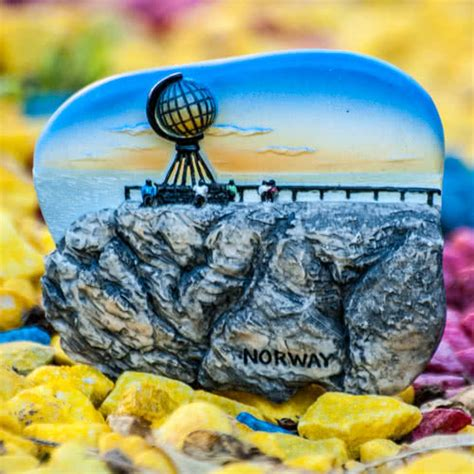 Magnet Norwegia Souvenirs resin fridge magnet cape midnight sun