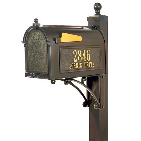 mailbox for whitehall products whitehall deluxe bronze mailbox