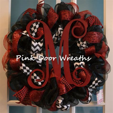 Ribbon Cullote Black Grey Grey Maroon 292 best pink door wreaths images on