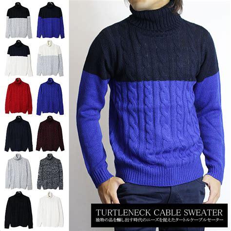 Sweater Rajut Cable Saku Series Knitted Sweater Winter Sweater mint green market rakuten global market turtleneck