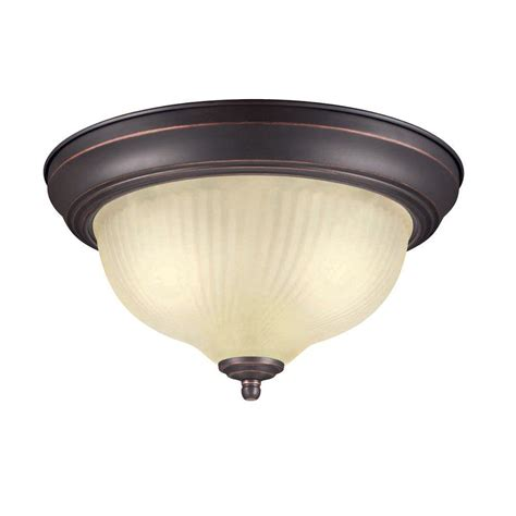 Hton Bay Fzp8012a Orb Oil Rubbed Bronze 2 Light Flush Home Depot Flush Ceiling Lights
