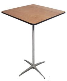 50 inch high table belly bar or coctail table square 24 quot specify 42 quot high or