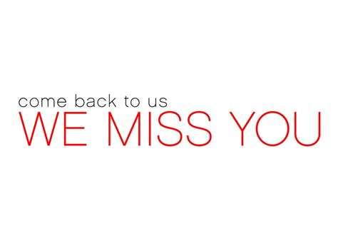 We Miss You Cards