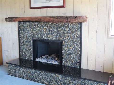 large glazed bali ocean fireplace river rock fireplaces