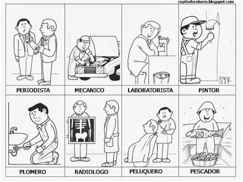 imagenes para colorear oficios maestra de primaria dibujos de oficios para colorear