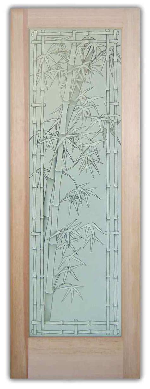 Bamboo Glass Designs Sans Soucie Art Glass Bamboo Glass Door