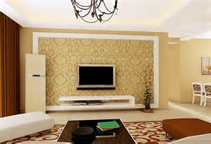 living room interior design tv wall pastoral style