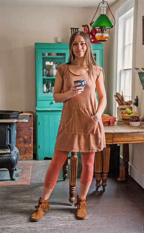 farm girl dress bohemian folk clothing