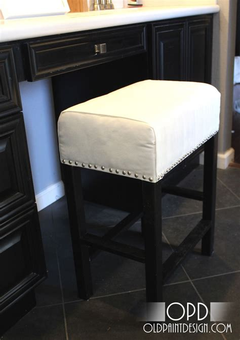 diy makeup vanity stool white cheshire vanity stool diy projects