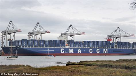 how much is the biggest boat in the world world s largest container ship at 396m long arrives in
