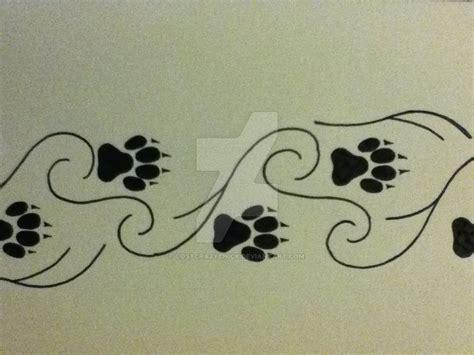 wolf paw print tattoo wolf paw print design