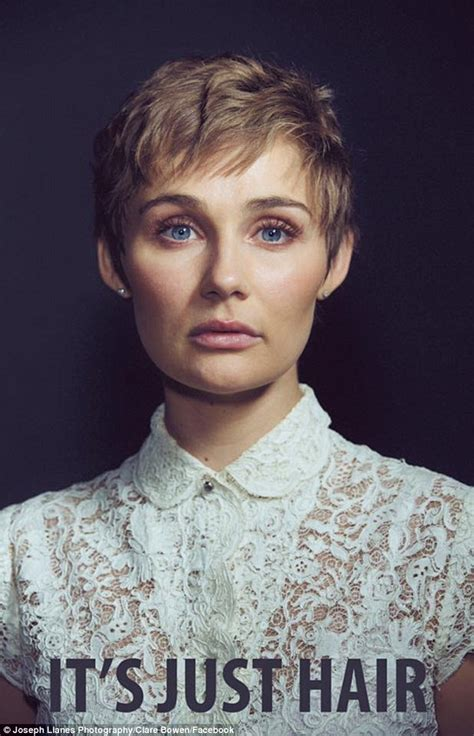 hairstyles from nashville series clare bowen cuts off hair to prove to girls with cancer