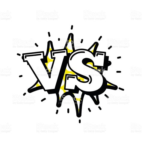 or vs versus letters or vs logo vector emblems on explosion