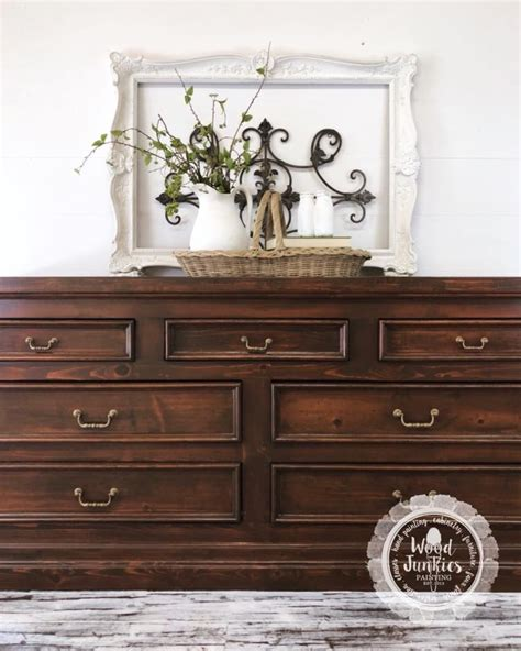 antique walnut gel stained dresser knotty pine dresser in custom gel stain color general finishes design center
