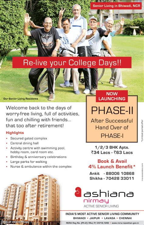 Re Lives Days by Ashiana Nirmay Active Senior Living Re Live Your College